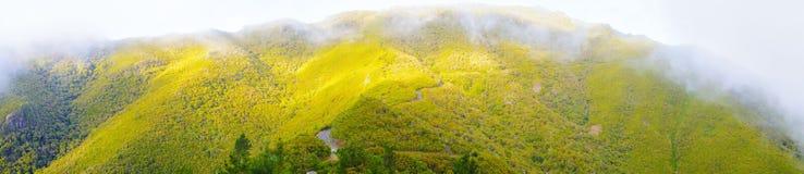 Взгляд гор от pico Das Pedras, острова Мадейры, Португалии, Европы Стоковое Изображение RF
