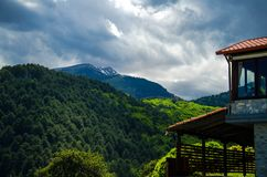 Взгляд гор Olympus, Pieria, Македонии, Греции стоковое фото