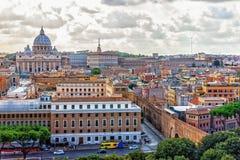 Взгляд государства Ватикан и собора St Peter, Рим, Италия стоковая фотография
