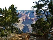 взгляд грандиозной оправы каньона южный Стоковая Фотография