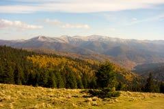 Взгляд гребня горы Baiului в сезоне осени Стоковая Фотография
