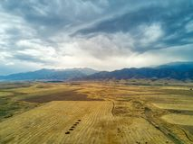 Взгляд грозы к Кыргызстану в южном взятии Казахстана стоковые фотографии rf