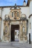 Взгляд двери утюга университета Coimbra стоковые изображения
