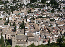 взгляд дворца alhambra granada Стоковая Фотография RF