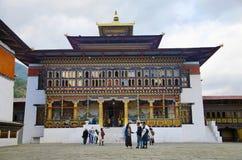 Взгляд дворца ` s короля Как дворец Dechencholing thimphu стоковая фотография rf