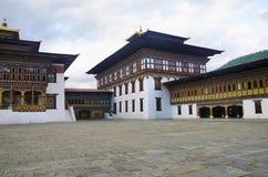 Взгляд дворца ` s короля Как дворец Dechencholing thimphu стоковые изображения rf