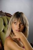взгляд девушки блестящий сексуальный Стоковые Фото