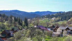 Взгляд деревни в регионе Bucovina, Румынии humorului Manastirea стоковые фото