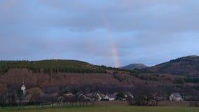 Взгляд деревни LAuw в Франции стоковое фото