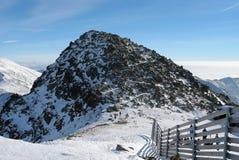 Взгляд держателя Chopok на зимний день в лыжном курорте Jasna стоковое изображение