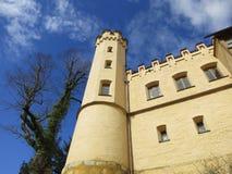 Взгляд детали замока Hohenschwangau Стоковые Изображения RF