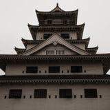 Взгляд детали на замке воды Imabari Imabari, префектура Ehime, Япония стоковые фотографии rf