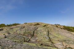 Взгляд для того чтобы установить Кадиллак в национальном парке acadia Стоковое фото RF