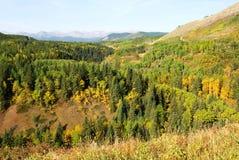 взгляд долины гор Стоковое фото RF