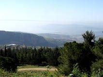 Взгляд долины - озеро Галилеи Kineret в Израиле стоковая фотография
