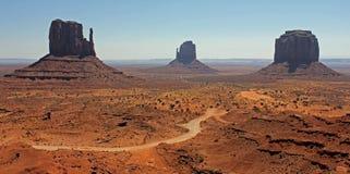 Взгляд долины памятника Стоковые Изображения RF