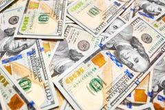 Взгляд долларовой банкноты денег 100 предпосылки обоев американский для Стоковые Фото