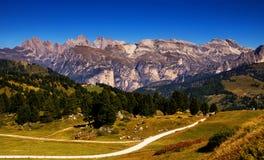 Взгляд доломитов Италии Стоковые Изображения RF