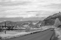 Взгляд дороги к городку Katav-Ivanovsk стоковая фотография
