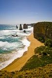взгляд дороги океана melbo 12 апостолов большой Стоковое Изображение RF