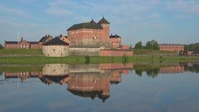 Взгляд древней крепости Hameenlinna Финляндия сток-видео