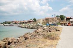 Взгляд залива, набережной и части древней крепости w Стоковое Изображение