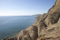 Взгляд залива Fox от горы Echki-Dag Стоковая Фотография