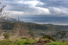 Взгляд залива Pagasitikos Фото было принято от Milies v стоковое изображение