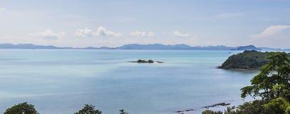 Взгляд залива Phang Nga с очень малыми островами, взгляд fr панорамы Стоковые Изображения