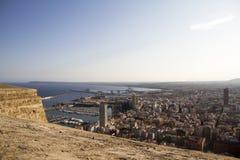 Взгляд замка Аликанте стоковая фотография rf