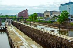 Взгляд замка воды на реке Влтавы, Праге Стоковые Фотографии RF