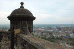 Взгляд замка Эдинбурга города Стоковое фото RF