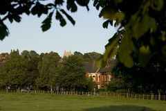 Взгляд западного общего, Линкольна, Линкольншира, Великобритании Стоковая Фотография RF