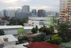 Взгляд захода солнца города Cebu Стоковая Фотография RF