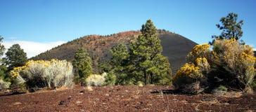 взгляд захода солнца кратера цветистый Стоковые Изображения RF
