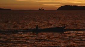 Взгляд захода солнца моря сток-видео