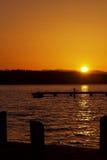 взгляд захода солнца портрета Стоковое Изображение RF