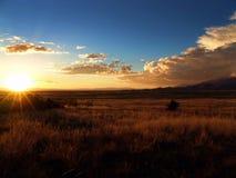 взгляд захода солнца Стоковые Фото