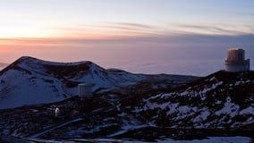 взгляд захода солнца mauna kea Стоковое фото RF