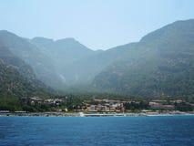 Взгляд здания гостиницы индюка Средиземного моря Стоковая Фотография
