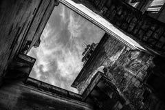 Взгляд здания от пола в Праге Стоковое Фото