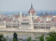Взгляд здания парламента, Будапешт, Венгрия Стоковые Изображения
