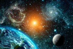 Взгляд земли от космоса Стоковые Изображения RF