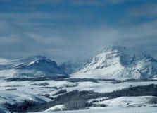 Взгляд зимы поднимая горы волка Стоковая Фотография RF