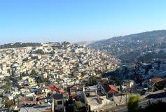 Взгляд Иерусалима от старого города стоковое фото rf