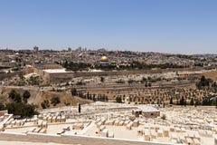 Взгляд Иерусалима с кладбищем Стоковое Изображение RF
