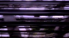 Взгляд из окна фуры метро двигая поезда Москва, Россия 15/06/2019 иллюстрация штока