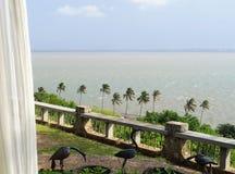 Взгляд Индийского океана перед штормом стоковое изображение rf