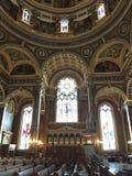 Взгляд интерьера базилики St Josaphat, Milwaukee, Висконсина, США Стоковая Фотография RF