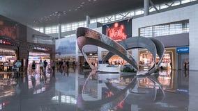 Взгляд интерьера международного аэропорта Инчхона, Сеула, Южной Кореи стоковое изображение rf